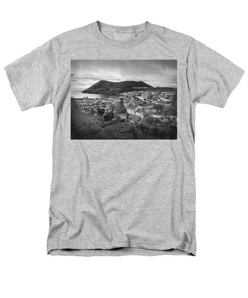 Monte Brasil And Angra Do Heroismo, Terceira Island, Azores Men's T-Shirt  (Regular Fit) by Kelly Hazel