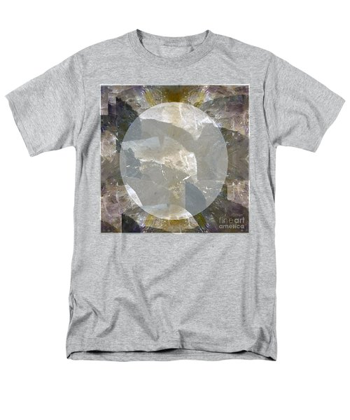 Moon Art On Stone Digital Graphics By Navin Joshi By Print Posters Greeting Cards Pillows Duvet Cove Men's T-Shirt  (Regular Fit) by Navin Joshi