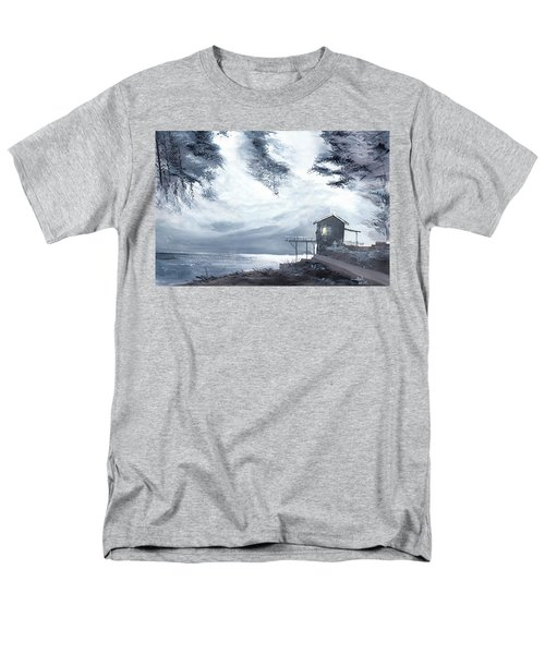 Men's T-Shirt  (Regular Fit) featuring the painting Moon Light New by Anil Nene