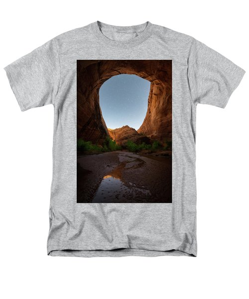 Men's T-Shirt  (Regular Fit) featuring the photograph Moonrise At Coyote Gulch by Dustin LeFevre