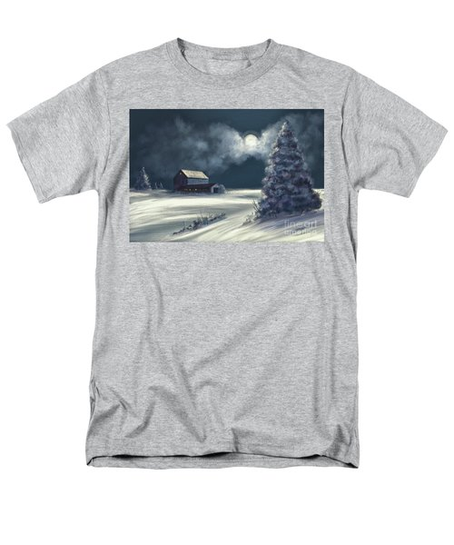 Men's T-Shirt  (Regular Fit) featuring the digital art Moonshine On The Snow by Lois Bryan
