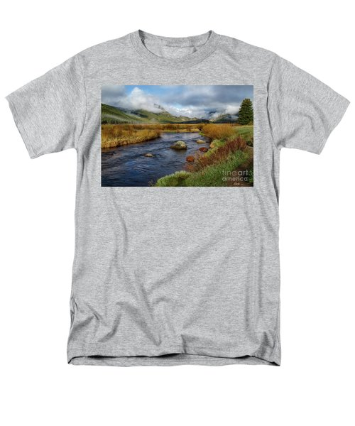 Moraine Park Morning - Rocky Mountain National Park, Colorado Men's T-Shirt  (Regular Fit) by Ronda Kimbrow