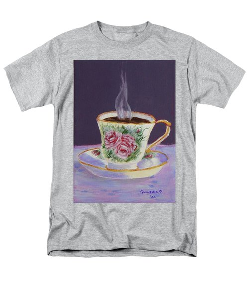 Morning Coffee Men's T-Shirt  (Regular Fit) by Quwatha Valentine