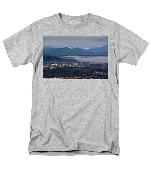 Morning Fog Over Grants Pass Men's T-Shirt  (Regular Fit) by Mick Anderson
