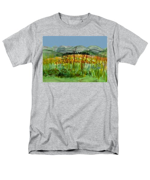 Men's T-Shirt  (Regular Fit) featuring the painting Morning In Backyard At Barton by Donna Walsh