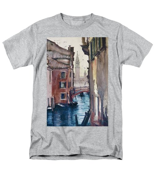 Men's T-Shirt  (Regular Fit) featuring the painting Morning In Venice by Geni Gorani