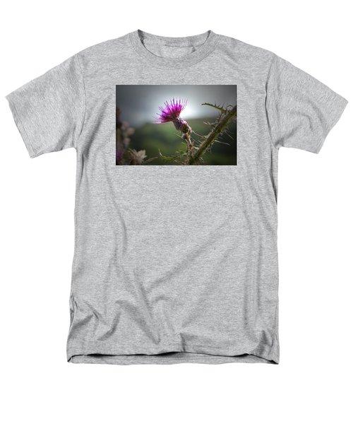 Morning Purple Thistle. Men's T-Shirt  (Regular Fit) by Terence Davis
