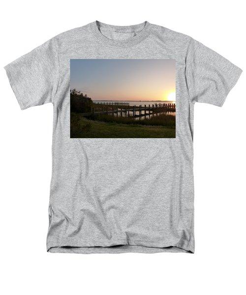 Men's T-Shirt  (Regular Fit) featuring the photograph Morning Sunrise Over Assateaque Island by Donald C Morgan