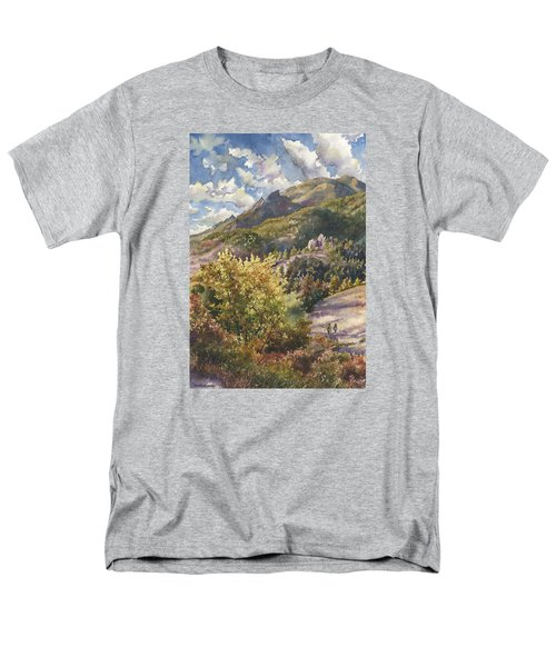 Men's T-Shirt  (Regular Fit) featuring the painting Morning Walk At Mount Sanitas by Anne Gifford