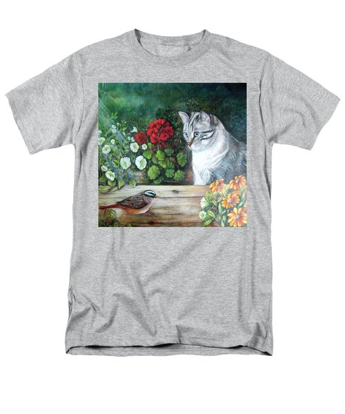 Men's T-Shirt  (Regular Fit) featuring the painting Morningsurprise by Patricia Schneider Mitchell