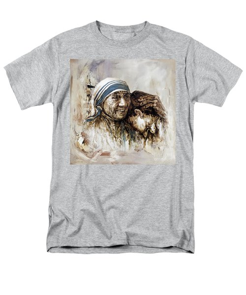 Men's T-Shirt  (Regular Fit) featuring the painting Mother Teresa  by Gull G