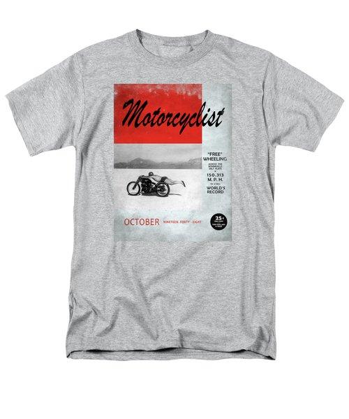 Motorcyclist Magazine - Rollie Free Men's T-Shirt  (Regular Fit) by Mark Rogan