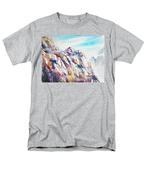 Mountain Awe #1 Men's T-Shirt  (Regular Fit) by Betty M M Wong