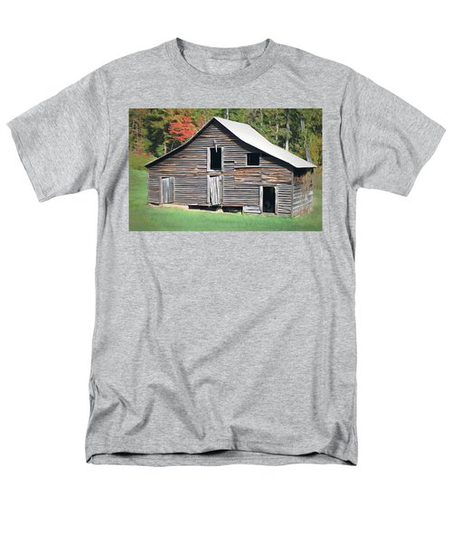 Men's T-Shirt  (Regular Fit) featuring the photograph Mountain Barn by Marion Johnson