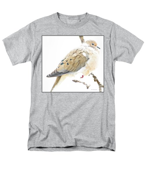 Mourning Dove, Snowy Morning Men's T-Shirt  (Regular Fit) by A Gurmankin