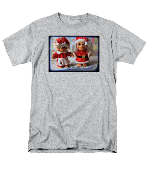 Men's T-Shirt  (Regular Fit) featuring the photograph Mr And Mrs Santa Troll by Toni Hopper