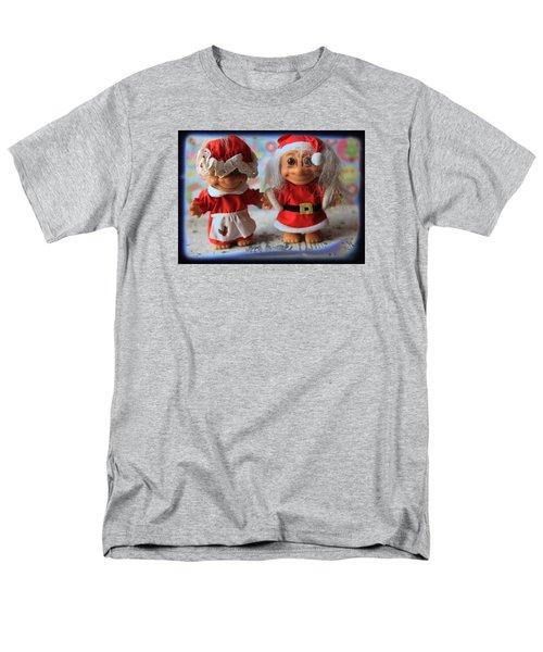 Mr And Mrs Santa Troll Men's T-Shirt  (Regular Fit) by Toni Hopper