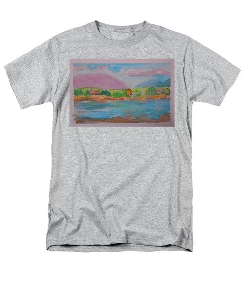 Mt Desert From Marlboro Beach Men's T-Shirt  (Regular Fit)