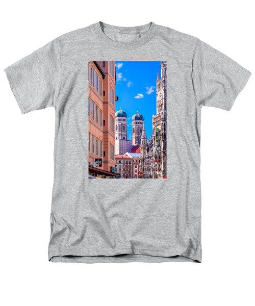 Munich Center Men's T-Shirt  (Regular Fit) by Juergen Klust