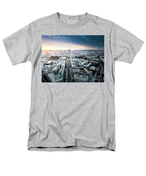 Men's T-Shirt  (Regular Fit) featuring the photograph Munich - Sunrise At A Winter Day by Hannes Cmarits