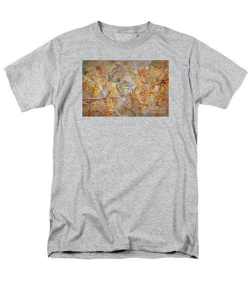 Myrtle Warbler Men's T-Shirt  (Regular Fit) by Suzanne Handel