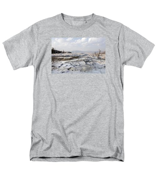 Mystic Scene From The Lower Terrace In Yellowstone National Park Men's T-Shirt  (Regular Fit) by Carol M Highsmith