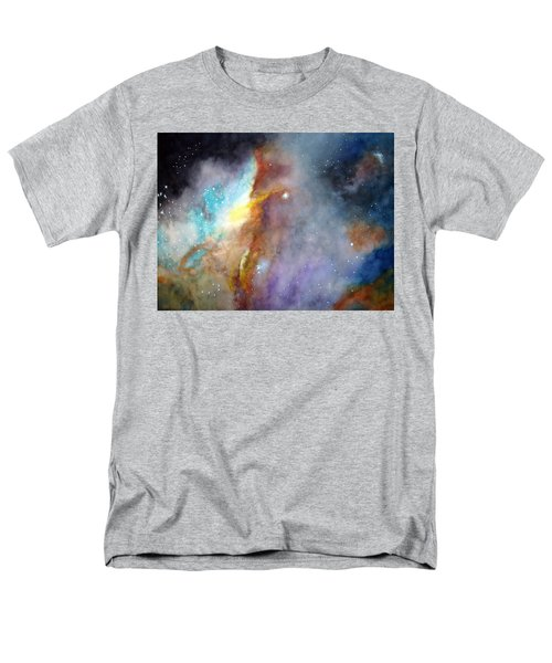 Men's T-Shirt  (Regular Fit) featuring the painting N11b Large Magellanic Cloud by Allison Ashton