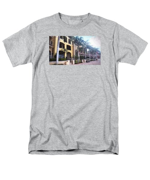 Naples On The Waterfront Men's T-Shirt  (Regular Fit) by Rena Trepanier