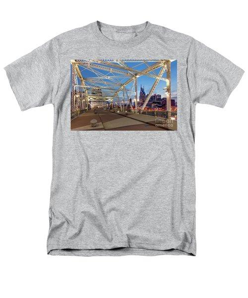 Men's T-Shirt  (Regular Fit) featuring the photograph Nashville Bridge by Brian Jannsen