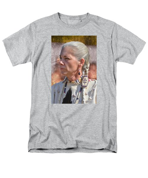 Native American Woman Men's T-Shirt  (Regular Fit) by Kathy Baccari