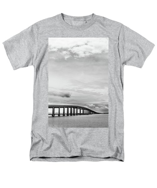 Men's T-Shirt  (Regular Fit) featuring the photograph Navarre Bridge Monochrome by Shelby Young