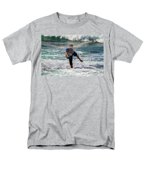 Net Fishing Men's T-Shirt  (Regular Fit) by Roger Mullenhour