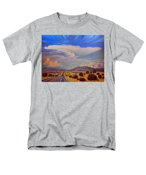 Men's T-Shirt  (Regular Fit) featuring the painting New Mexico Cloud Patterns by Art James West