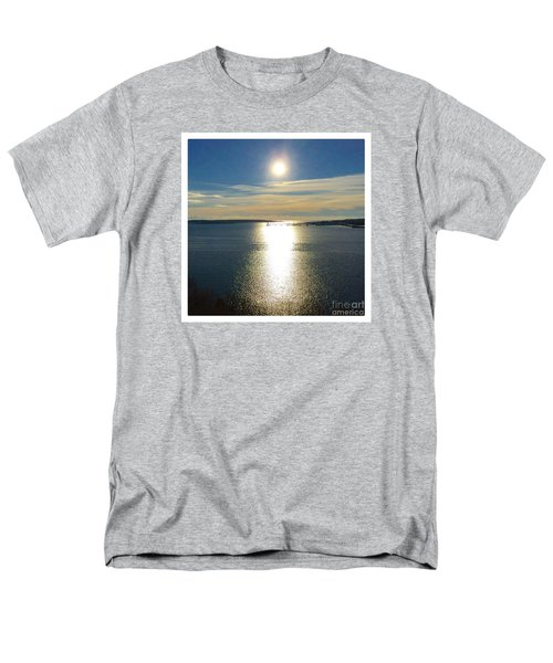 New Year's Day 2016, Casco Bay, Portland, Maine  Men's T-Shirt  (Regular Fit) by Patricia E Sundik