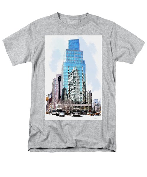 Men's T-Shirt  (Regular Fit) featuring the digital art New York In Reflection by Kai Saarto