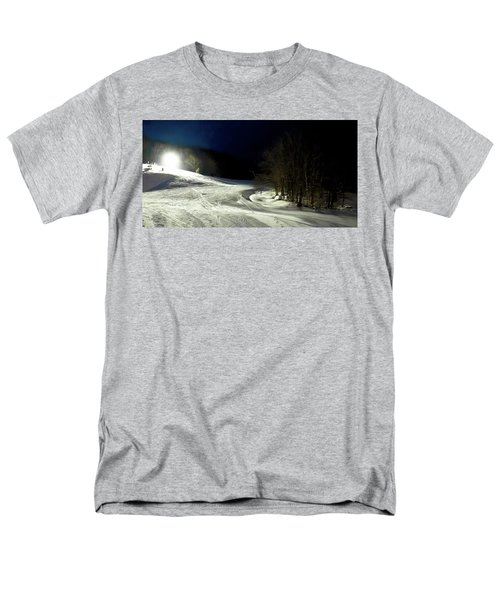 Men's T-Shirt  (Regular Fit) featuring the photograph Night Skiing At Mccauley Mountain by David Patterson