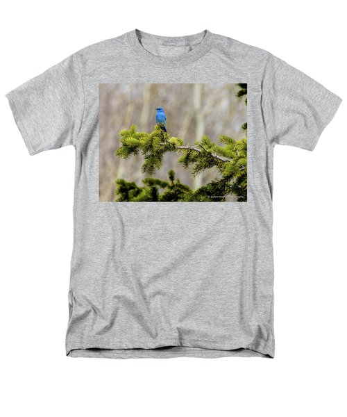 Notice The Pretty Bluebird Men's T-Shirt  (Regular Fit) by Yeates Photography
