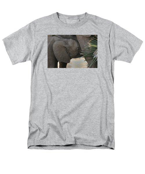 Men's T-Shirt  (Regular Fit) featuring the photograph Nursing Elephant Calf by Gary Hall