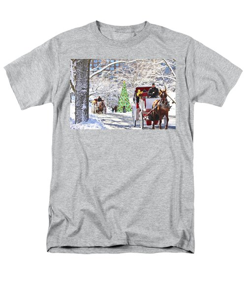 Festive Winter Carriage Rides Men's T-Shirt  (Regular Fit) by Sandi OReilly