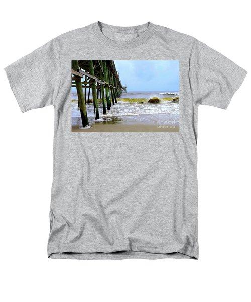 Men's T-Shirt  (Regular Fit) featuring the photograph Oak Island Pier Before H.matthew by Shelia Kempf