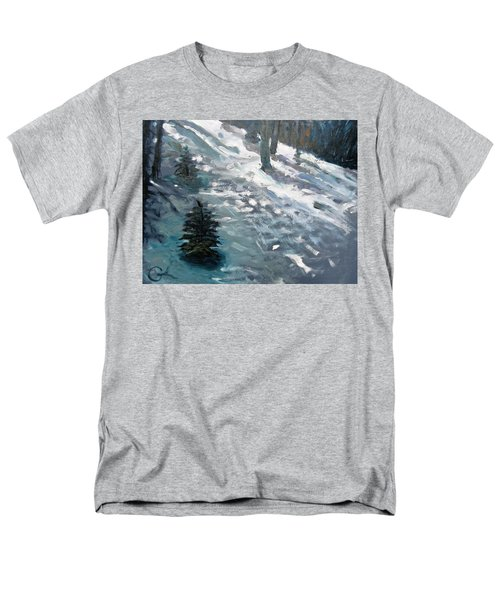 Men's T-Shirt  (Regular Fit) featuring the painting Observing Snow by Gary Coleman