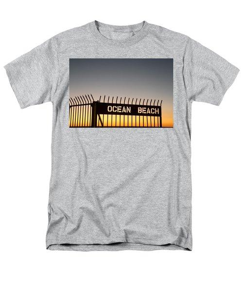 Ocean Beach Pier Gate Men's T-Shirt  (Regular Fit) by Christopher Woods