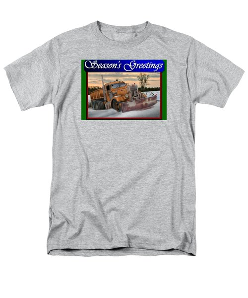 Ol' Pete Snowplow Christmas Card Men's T-Shirt  (Regular Fit) by Stuart Swartz