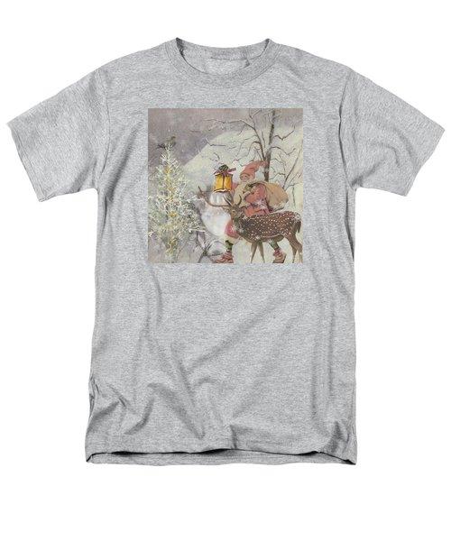 Ol' Saint Nick Men's T-Shirt  (Regular Fit) by Diana Boyd
