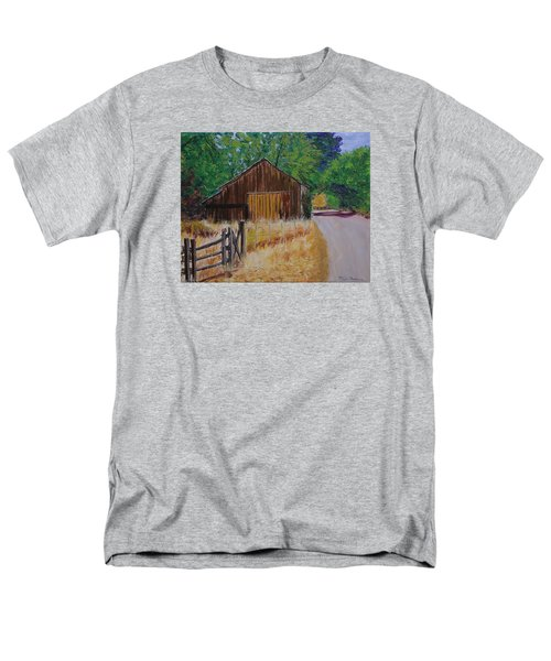 Old Barn Sonoma County Men's T-Shirt  (Regular Fit) by Mike Caitham