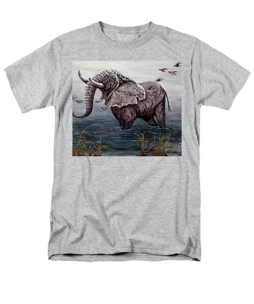 Old Elephant Men's T-Shirt  (Regular Fit) by Judy Kirouac