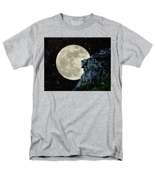 Old Man / Man In The Moon Men's T-Shirt  (Regular Fit) by Larry Landolfi