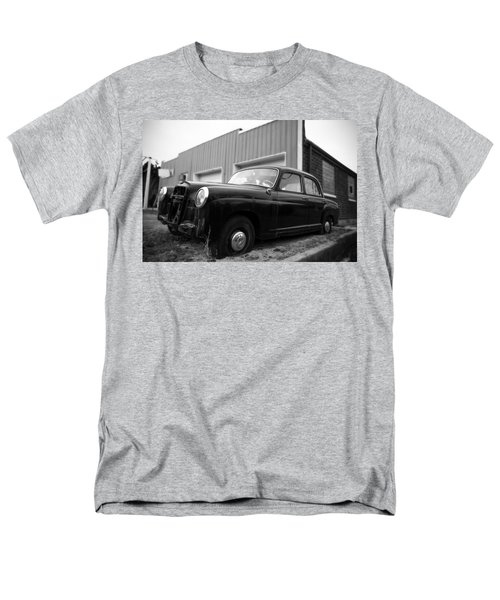 Men's T-Shirt  (Regular Fit) featuring the photograph Old Mercedes Sitting At The Shop by Janice Adomeit