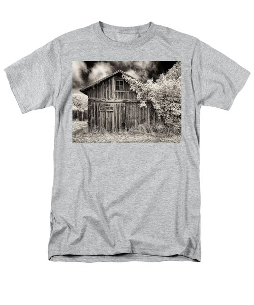 Men's T-Shirt  (Regular Fit) featuring the photograph Old Shed In Sepia by Greg Nyquist