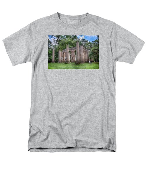 Men's T-Shirt  (Regular Fit) featuring the photograph Old Sheldon Church by Patricia Schaefer